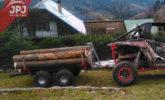 vozík dřevař za utv vozidlem
