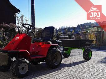 Vozík za čtyřkolku a zahradní traktůrky
